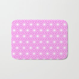 Girly Pink Geometric Flowers and Florals Isosceles Triangle Bath Mat