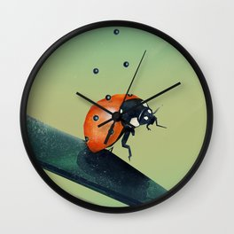 Oh, Bugger (Spring Version) Wall Clock
