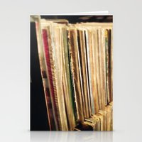 vinyl Stationery Cards featuring Vinyl by strentse
