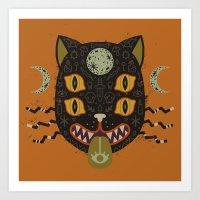 Spooky Cat Art Print