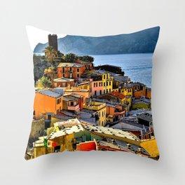 Cinque Terre Vernazza Village Mediterranean Coast, Italy 2 Throw Pillow