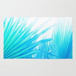 Solar Summer Fan Palms - Blue and Aqua Rug