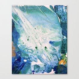 Ocean White Canvas Print