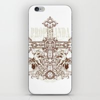 guns iPhone & iPod Skins featuring Crossing guns by Tshirt-Factory