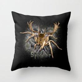 Spider + Deer = Spideer Throw Pillow