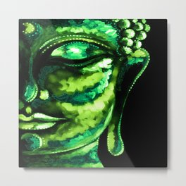 GREEN BUDDHA PAINTING Metal Print