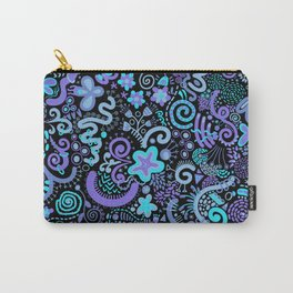 Green Blue Purple Zendoodle Carry-All Pouch
