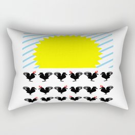 bbnyc sunrise, rooster and hen Rectangular Pillow