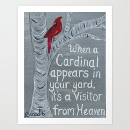 Visit From Heaven Art Print