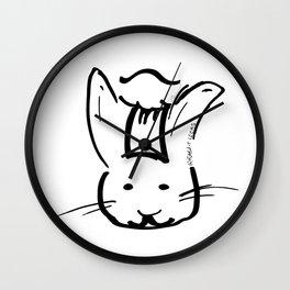 Rabbit Cooks Portrait Wall Clock
