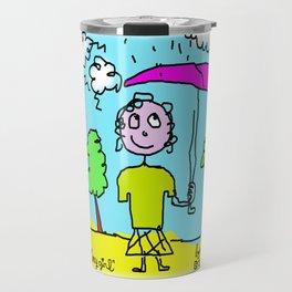 rainy girl Travel Mug