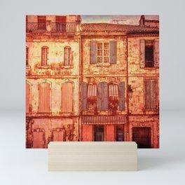 The Old Neighborhood, Rustic Buildings Mini Art Print