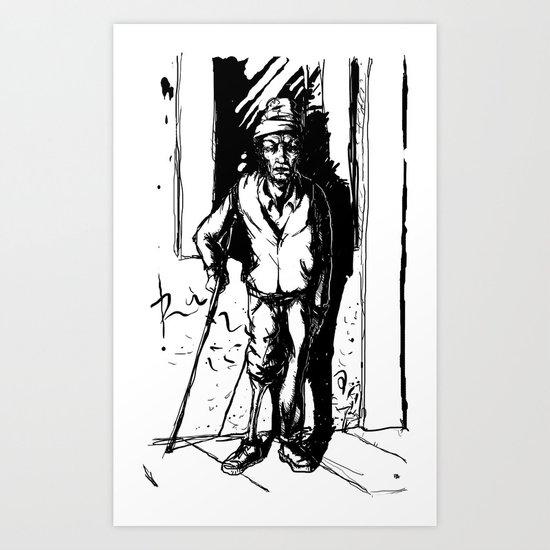 O Super Mendigo Art Print