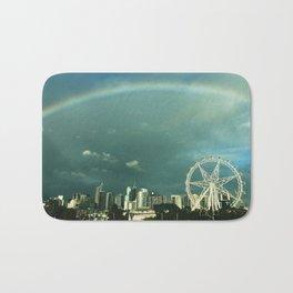 Rainbow over Melbourne Bath Mat