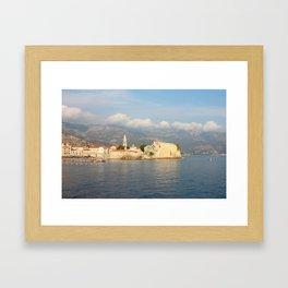 Old Town Budva In Montenegro Framed Art Print