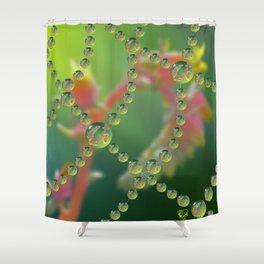 Echevaria Web Drops Shower Curtain
