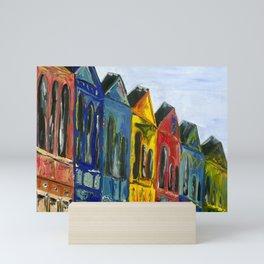 Rainbow Row Mini Art Print