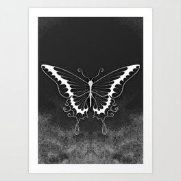 ghost butterfly Art Print