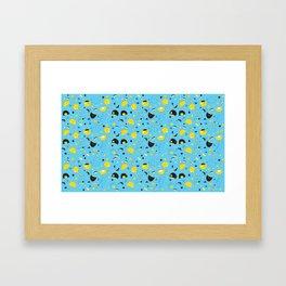 Hannukats Blue Framed Art Print