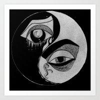 ying yang Art Prints featuring ying yang by ivette mancilla