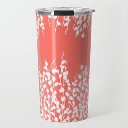 Pussywillow Silhouettes — Living Coral Travel Mug