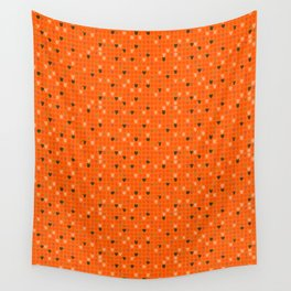 Pickle- turquise/orange Wall Tapestry