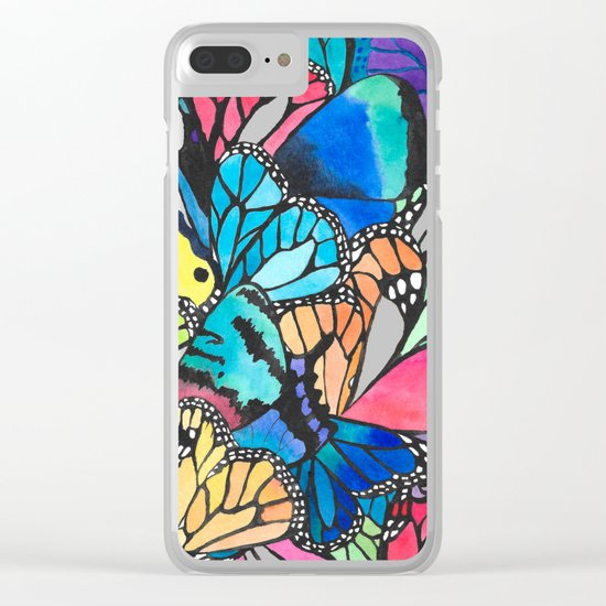 Butterfly Spark Clear iPhone Case