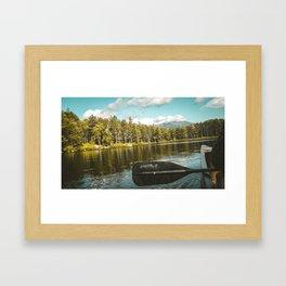 Canoe Under Katahdin Framed Art Print