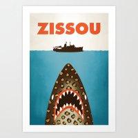 zissou Art Prints featuring Zissou by Wharton