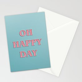 OH HAPPY DAY No.2 Stationery Cards