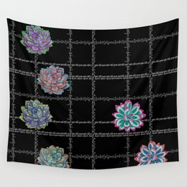 'Not Your Babe' tartan succulent print Wall Tapestry