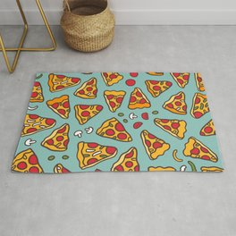 Funny pizza pattern Rug