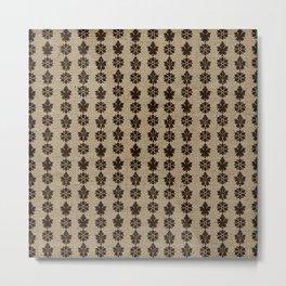 Deco Floral Burlap Print Metal Print