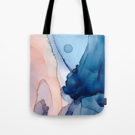 Saphire soft abstract watercolor fluid ink painting Tote Bag