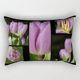 Purple Tulips Rectangular Pillow