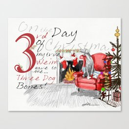 THIRD DAY OF CHRISTMAS WEIMS Canvas Print