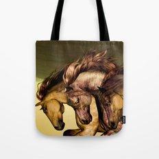 HORSES-Gunmetal Tote Bag