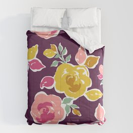 Multi-color Roses Pattern Comforters
