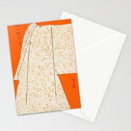 Watanabe Seitei - Flower Pattern Kimono - Japanese traditional pattern design Stationery Cards