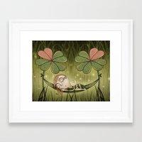 bee Framed Art Prints featuring Bee by José Luis Guerrero
