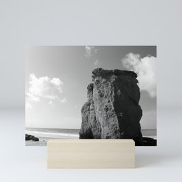 Rocks on the Beach Mini Art Print