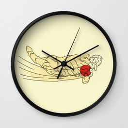 flying goal keeper Wall Clock