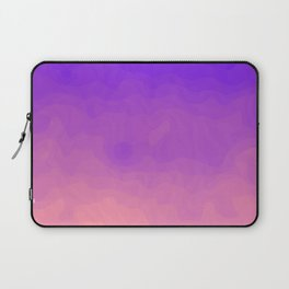 Pink and Purple Ombre - Swirly - Flipped Laptop Sleeve