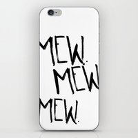 mew iPhone & iPod Skins featuring Mew. by Jenna Settle
