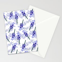 Hand painted lavender flower bloom Stationery Cards