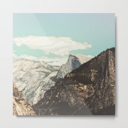 Half Dome Peek Metal Print