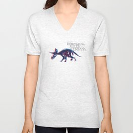 When Dinosaurs Ruled The Earth - Triceratops Unisex V-Neck