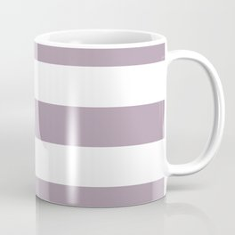 Lilac Luster - solid color - white stripes pattern Coffee Mug