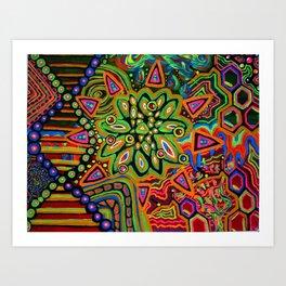 Molecular Monstrocity Art Print