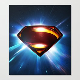 Man of Steel Logo Canvas Print